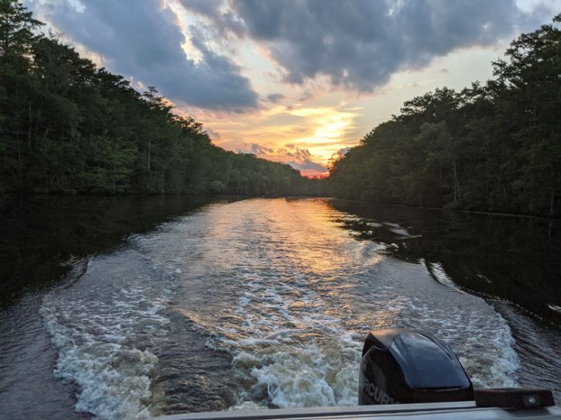 sunset on nottoway river