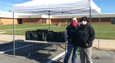 holiday food distribution at camp community college