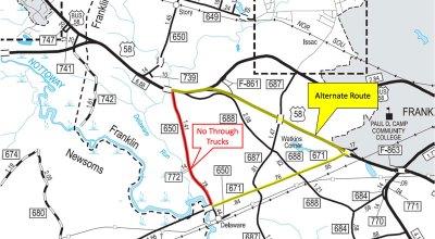 proposed alternate route